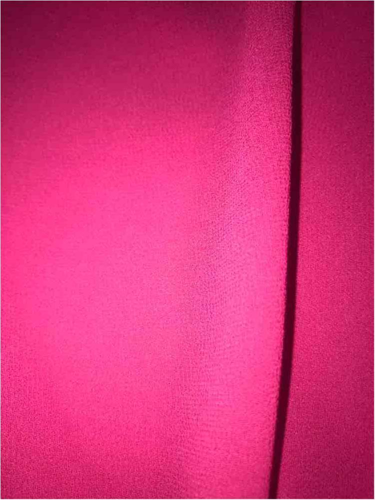 CREPE CHIFFON / FUSCHIA 1220 / 100% Polyester Crepe Chiffon