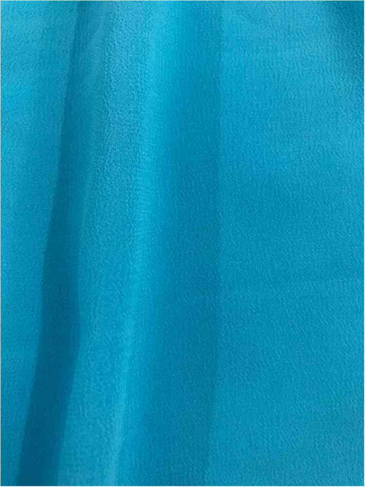 <h2>CREPE CHIFFON</h2> / TURQUOISE 1142                 / 100% Polyester Crepe Chiffon