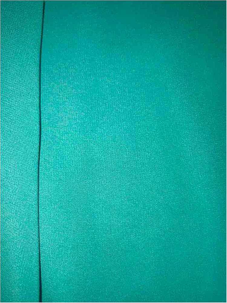 CREPE CHIFFON / TEAL 2052 / 100% Polyester Crepe Chiffon