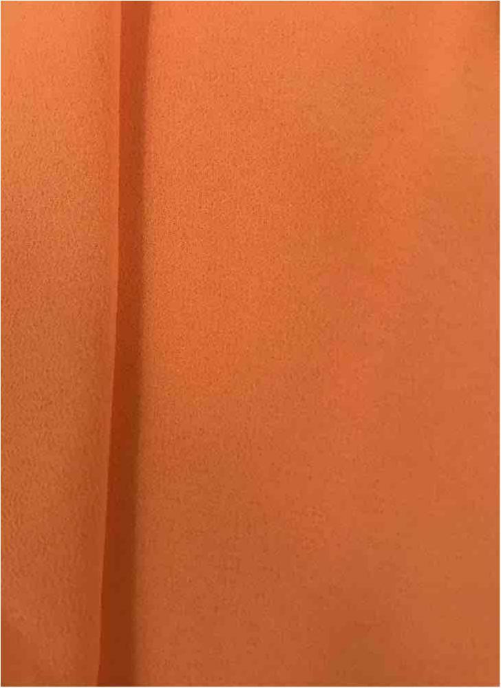 CREPE CHIFFON / ORANGE 1406 / 100% Polyester Crepe Chiffon