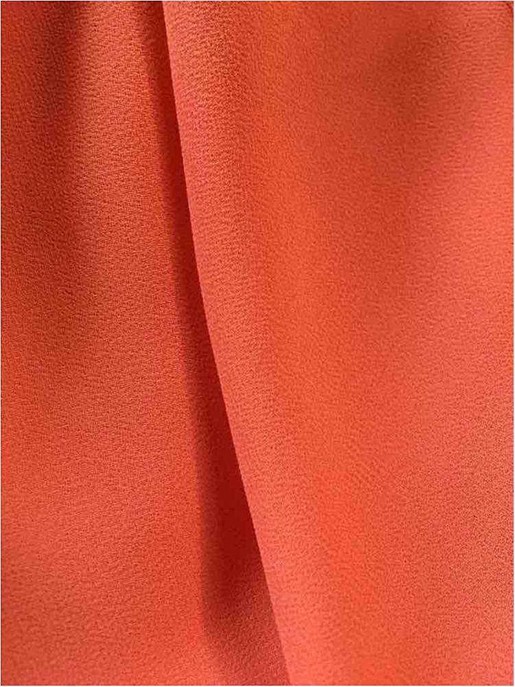 CREPE CHIFFON / TANGERINE 1407 / 100% Polyester Crepe Chiffon