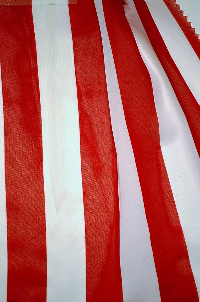 <h2>STP/HI-CHS 1&quot;</h2> / RED/WHITE                 / 100% Poly Hi-Multi Chiffon Medium Stripe Print