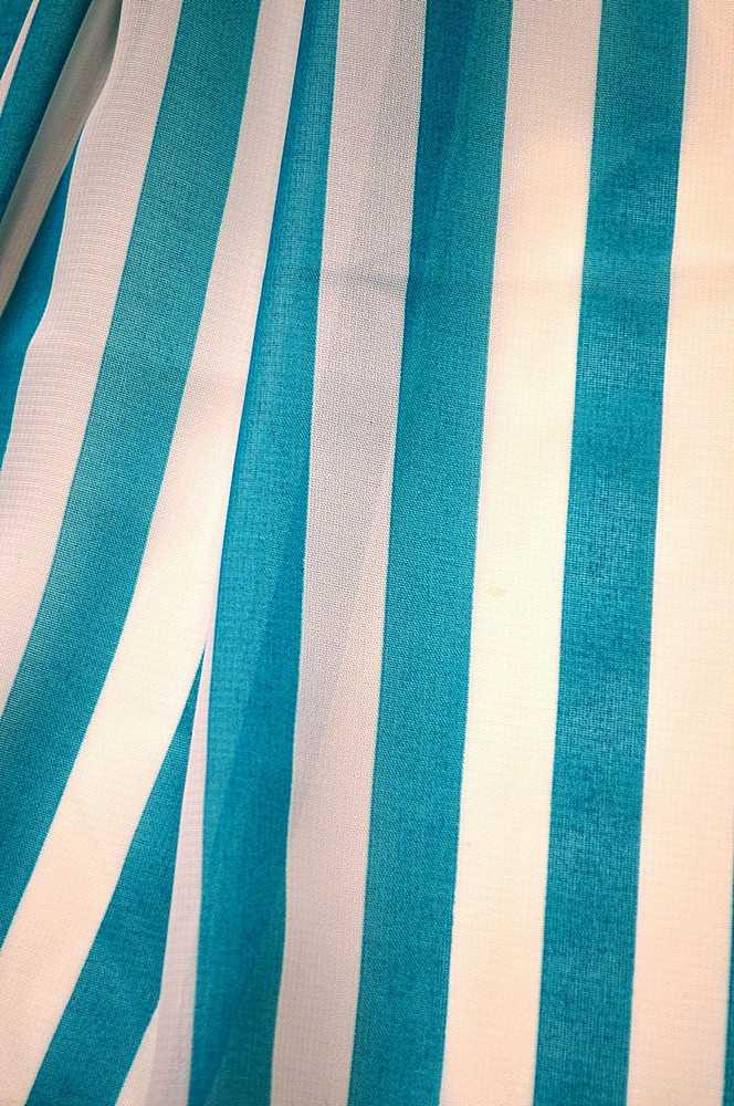 "STP/HI-CHS 1/2"" / AQUA/WHITE / 100% Poly Hi-Multi Chiffon Small Stripe Print"