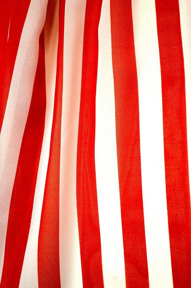 "STP/HI-CHS 1/2"" / RED/WHITE / 100% Poly Hi-Multi Chiffon Small Stripe Print"