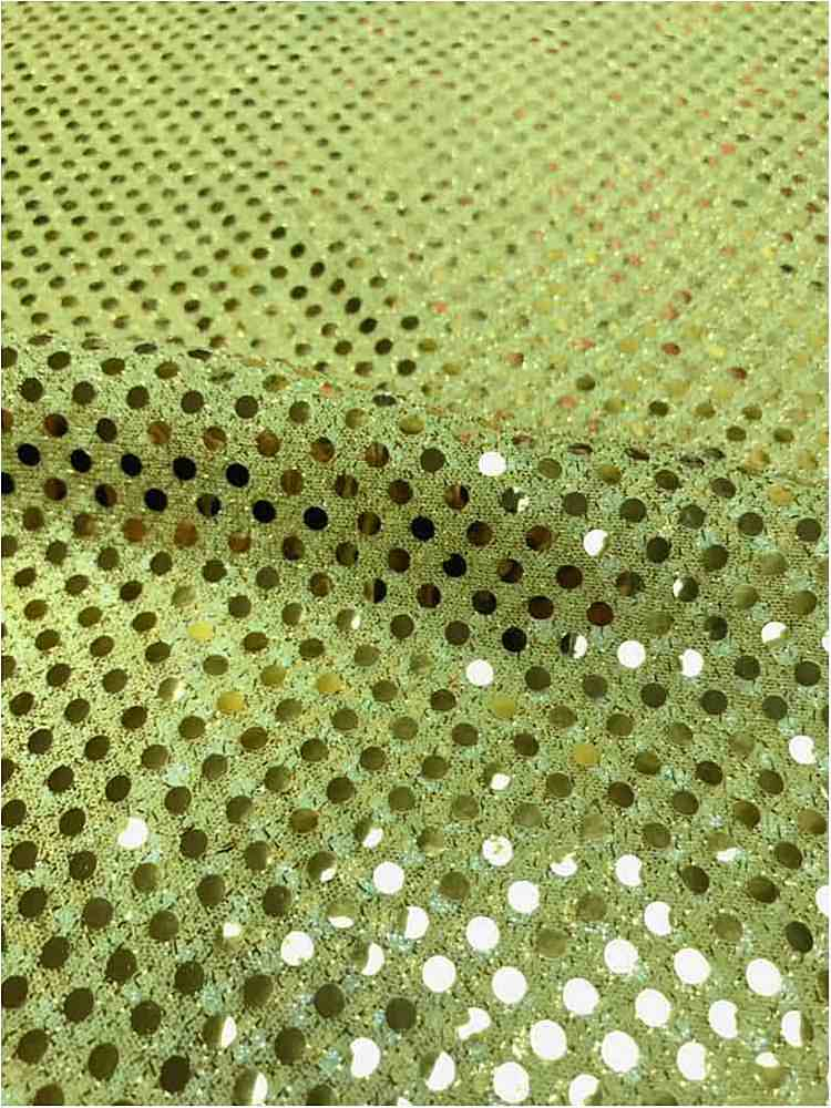 SEQUINS 2000 / GOLD-DARK / 100% Nylon Knit With 3mm Polyester Trans