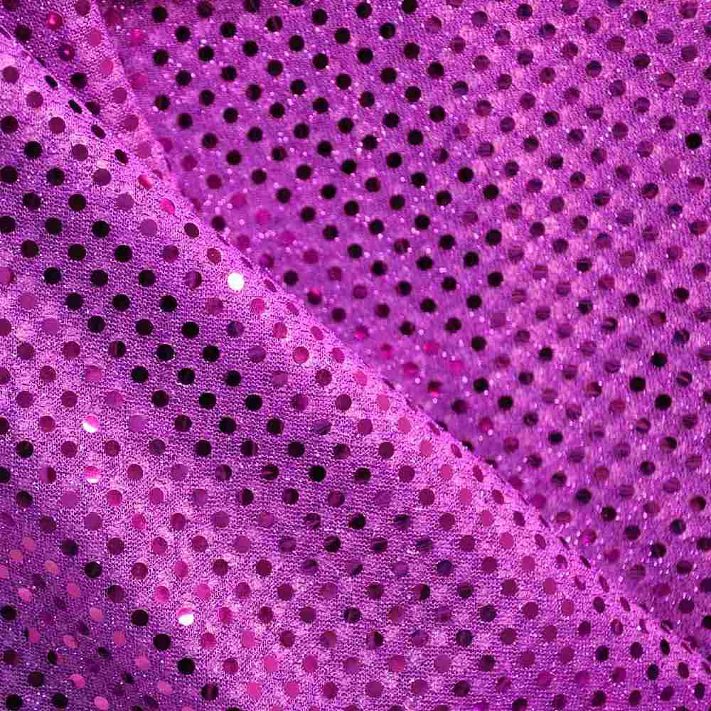 SEQUINS 2000 / PURPLE / 100% Nylon Knit With 3mm Polyester Trans