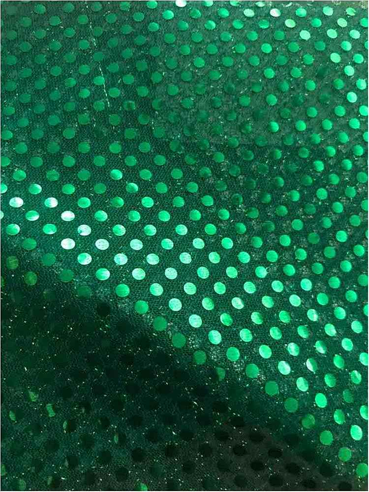 SEQUINS 2000 / GREEN / 100% Nylon Knit With 3mm Polyester Trans