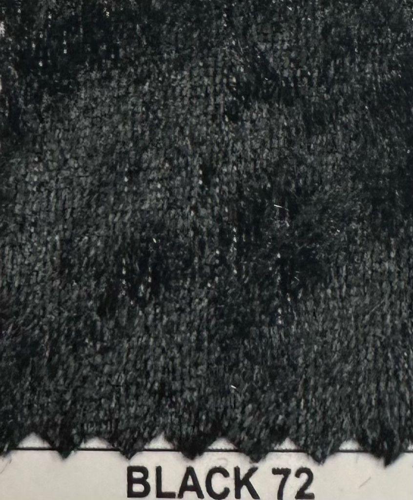 VLS4000 / BLACK 72 / 100% Poly Pane Velour