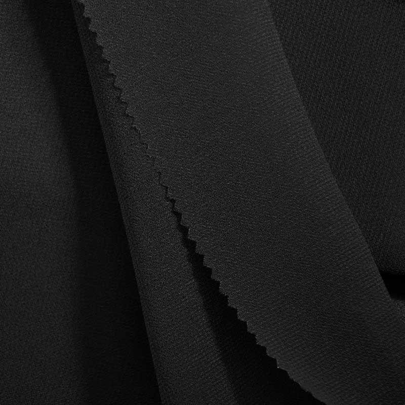 PEBBLE 200 / BLACK 115 / 100% Polyester Pebble Georgette