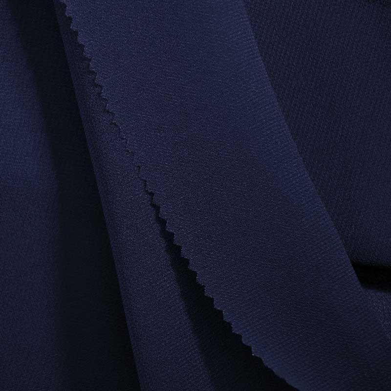 PEBBLE 200 / NAVY 245 / 100% Polyester Pebble Georgette