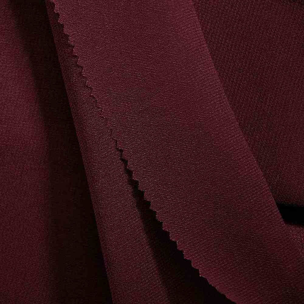PEBBLE 200 / BURGUNDY 232 / 100% Polyester Pebble Georgette