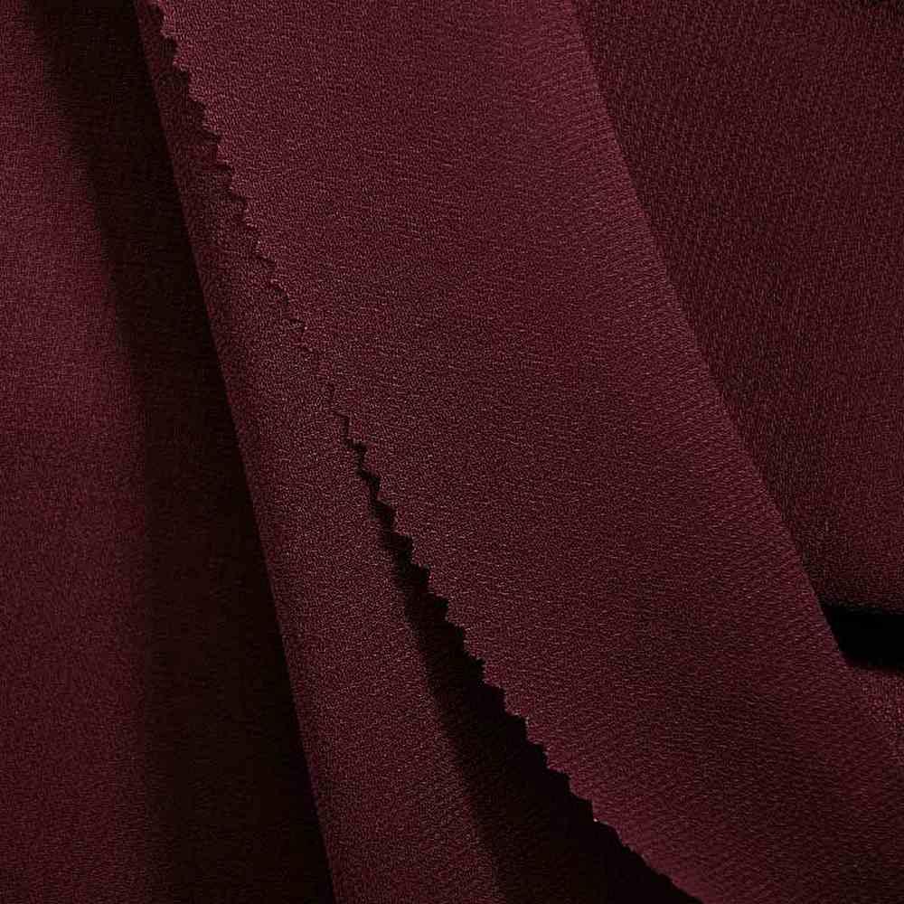 PEBBLE 200 / BURGUNDY 232 / 100% Polyester Pebble Georgette