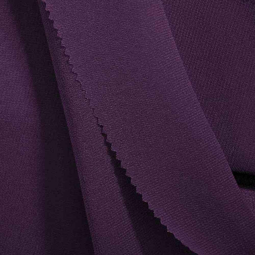 PEBBLE 200 / RAISIN 356 / 100% Polyester Pebble Georgette