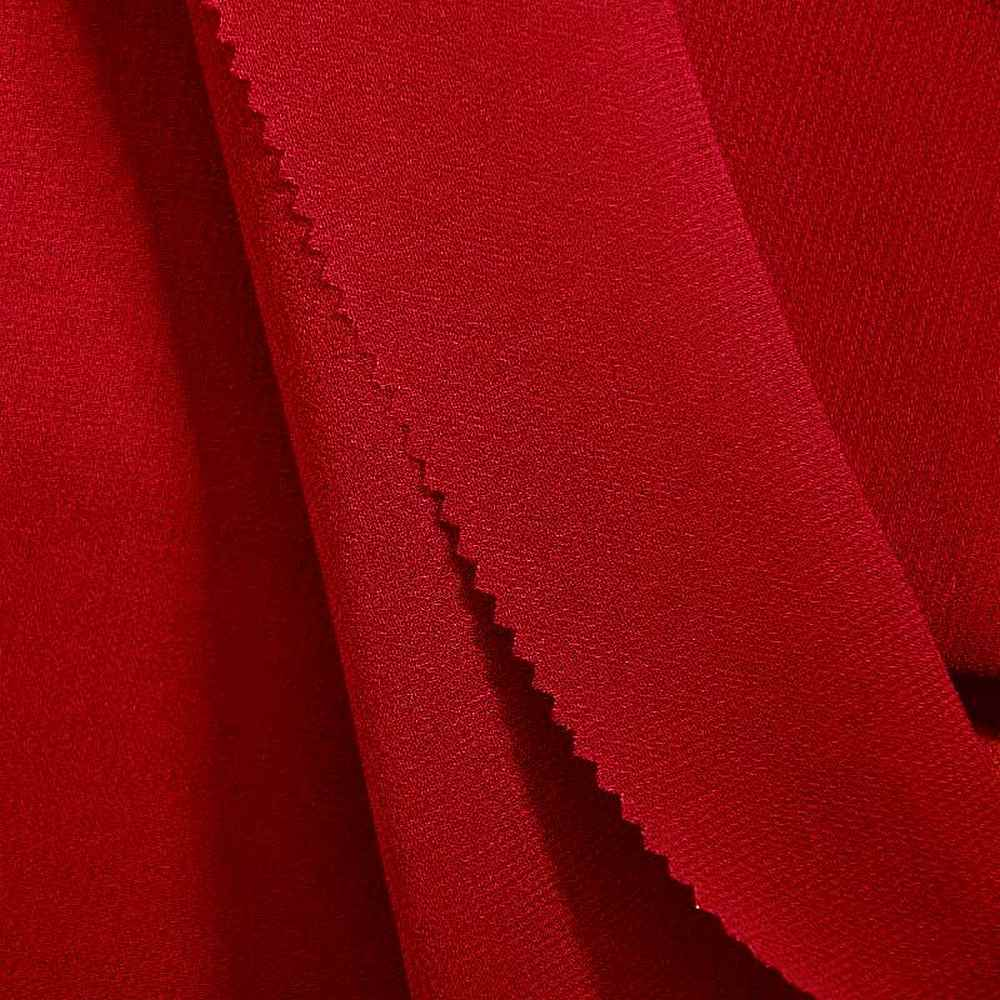 PEBBLE 200 / RED 190 / 100% Polyester Pebble Georgette