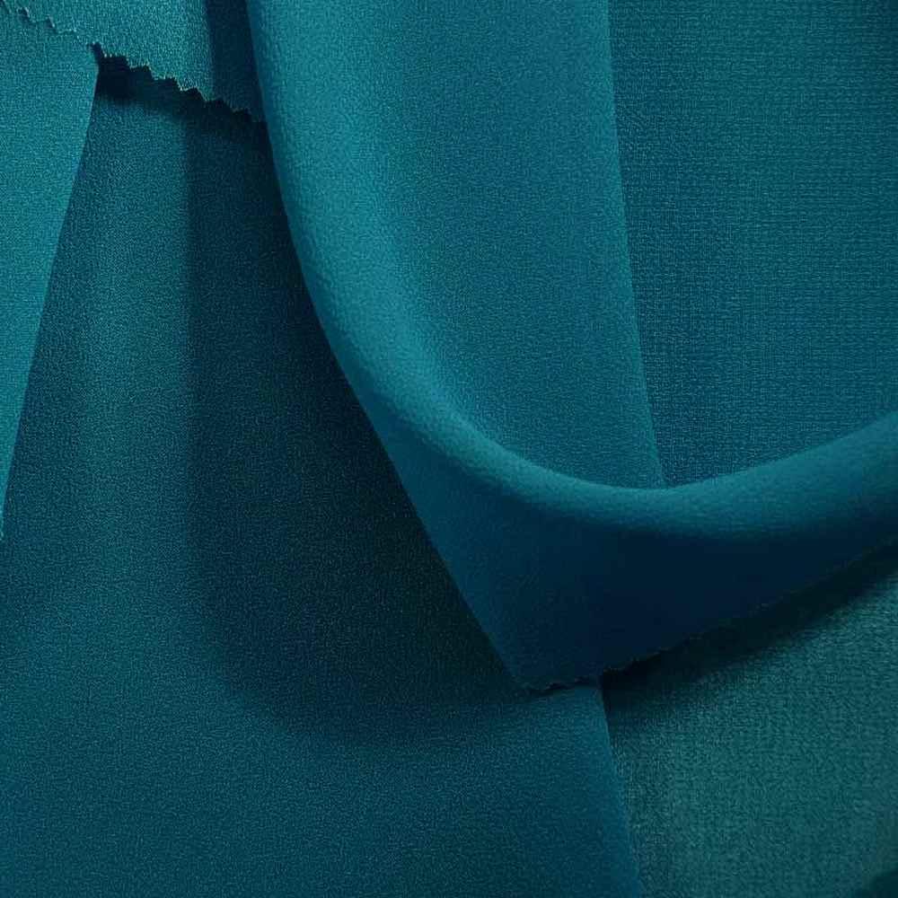 PEBBLE 200 / AQUA/L 134 / 100% Polyester Pebble Georgette