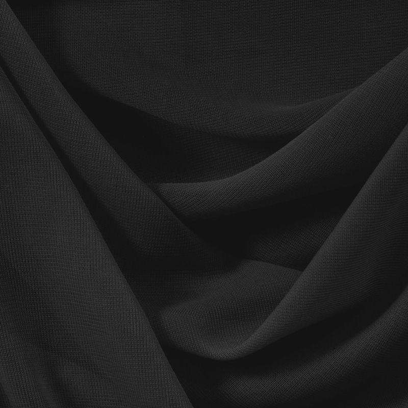 CMJ3000 / BLACK 131 / 100% Polyester Chiffon Matt Jersey