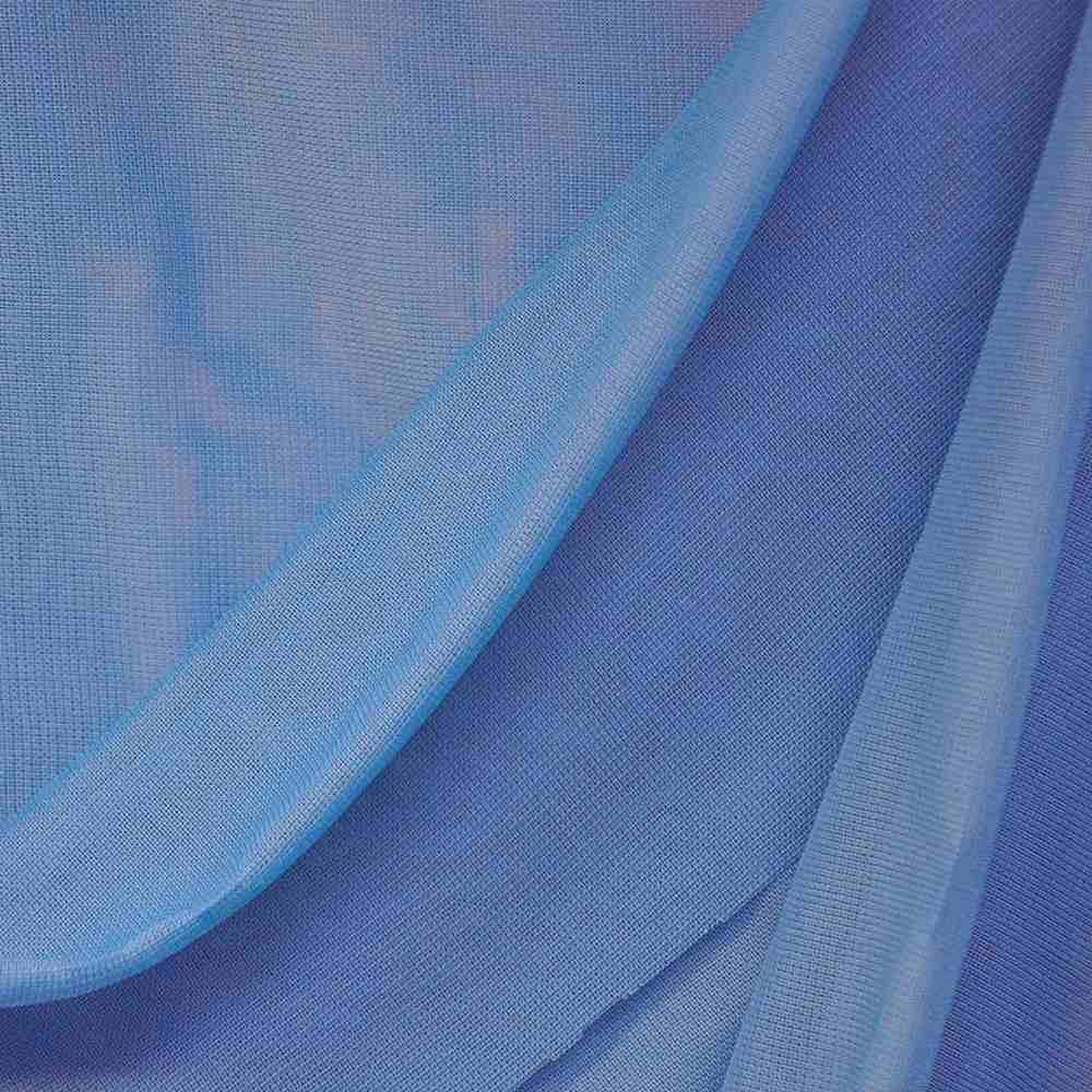 CMJ3000 / BLUE LAGOON 432 / 100% Polyester Chiffon Matt Jersey