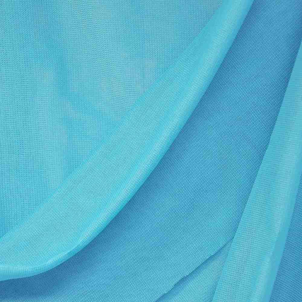 CMJ3000 / TURQUOISE 819 / 100% Polyester Chiffon Matt Jersey