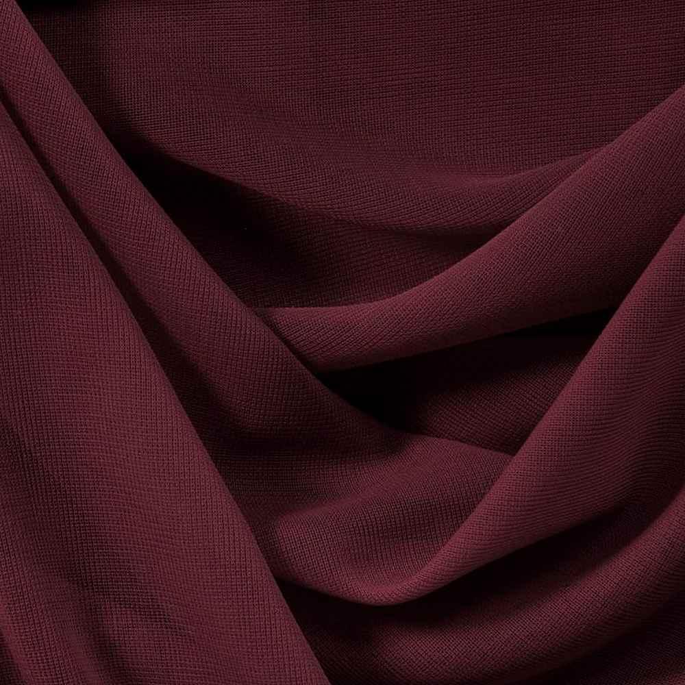 CMJ3000 / BURGUNDY 626 / 100% Polyester Chiffon Matt Jersey