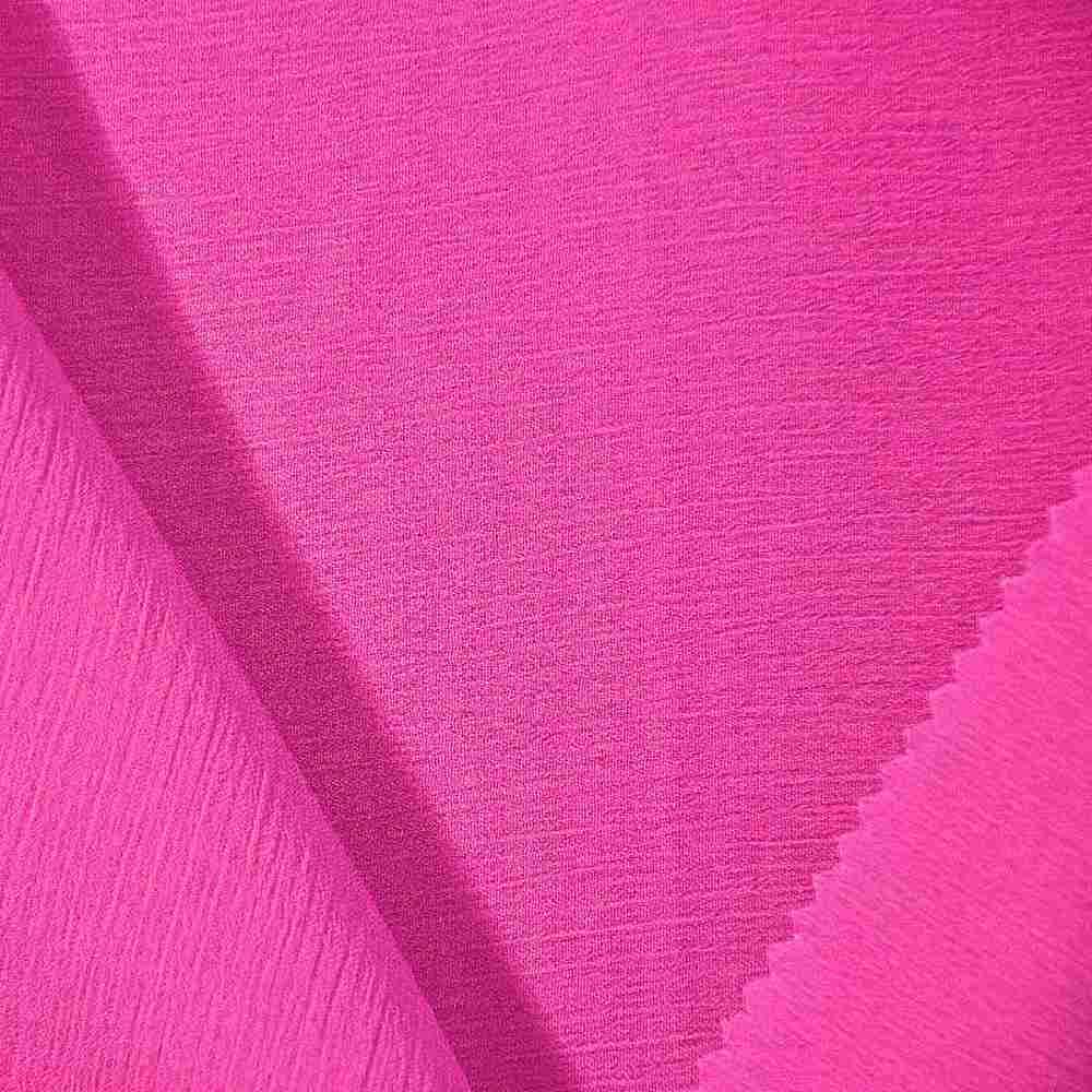 YORYU 060 / HOT/PINK 395 / 100% Polyester Chiffon Yoryu