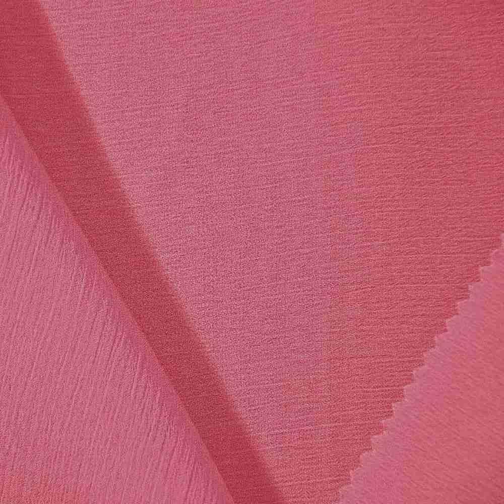 YORYU 060 / CORAL/KISS 616 / 100% Polyester Chiffon Yoryu
