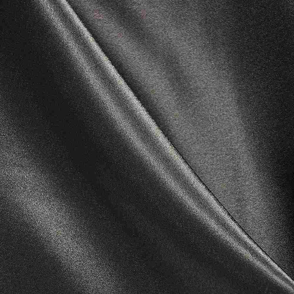 BACK CREPE / BLACK / 100% Polyester Back Crepe Satin