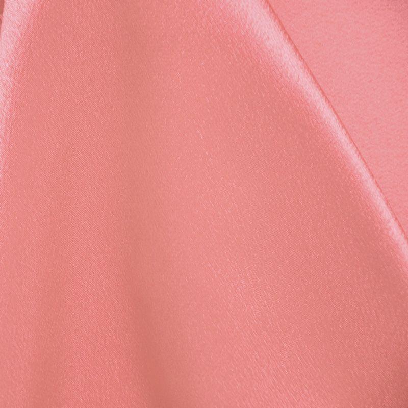 BACK CREPE / CORAL 201 / 100% Polyester Back Crepe Satin