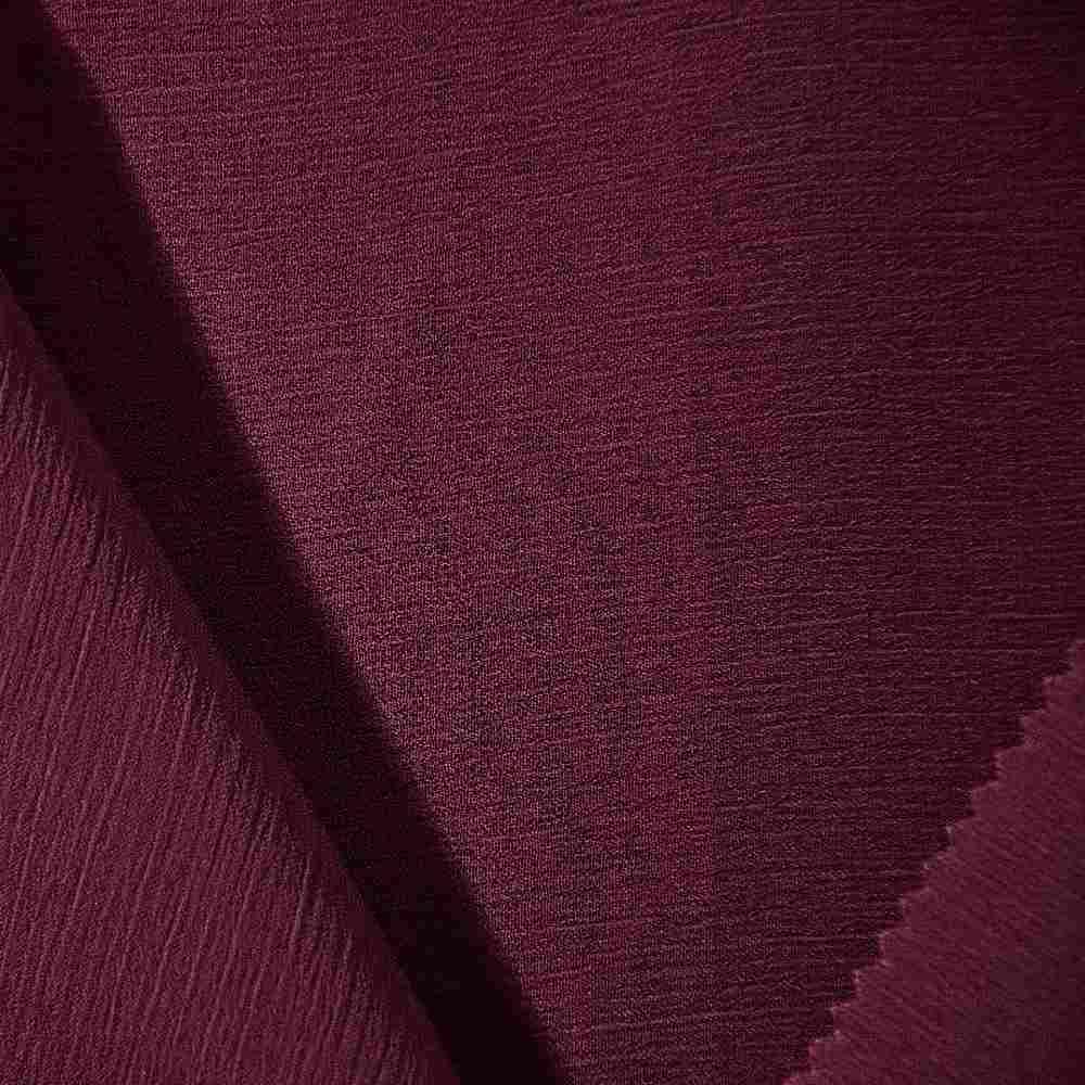 YORYU 060 / BURGUNDY 232 / 100% Polyester Chiffon Yoryu
