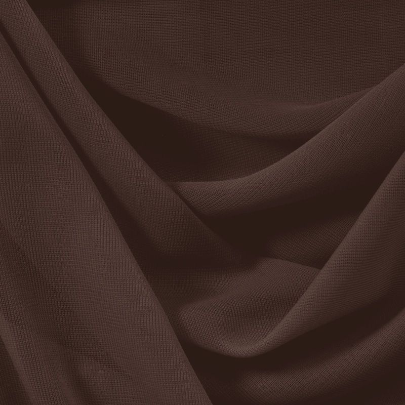 CMJ3000 / BROWN 128 / 100% Polyester Chiffon Matt Jersey