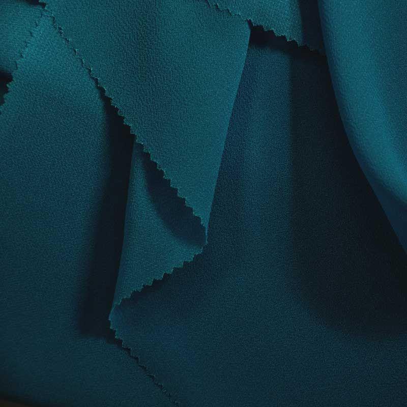 PEBBLE 200 / TEAL 650 / 100% Polyester Pebble Georgette