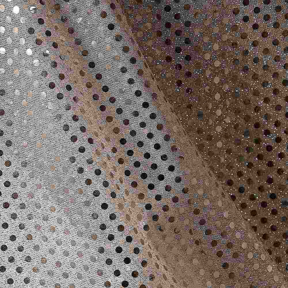 SEQUINS 2000 / B/GOLD / 100% Nylon Knit With 3mm Polyester Trans