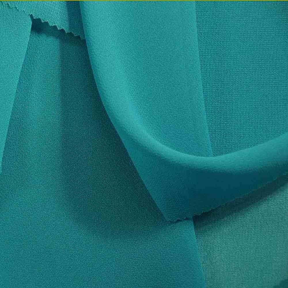 <h2>PEBBLE 200</h2> / TURQUOISE 542   / 100% Polyester Pebble Georgette