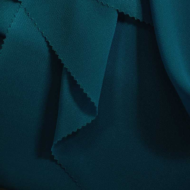 PEBBLE 200 / TEAL/D 651 / 100% Polyester Pebble Georgette