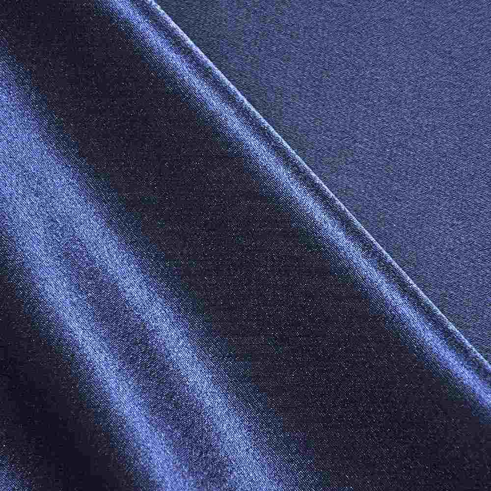 <h2>BACK CREPE</h2> / NAVY/L 247      / 100% Polyester Back Crepe Satin