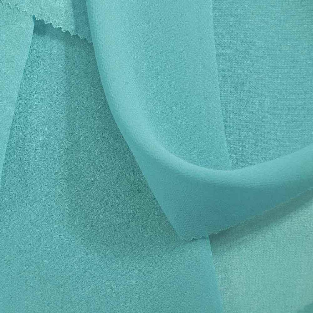 <h2>PEBBLE 200</h2> / TURQUOISE/L 719 / 100% Polyester Pebble Georgette