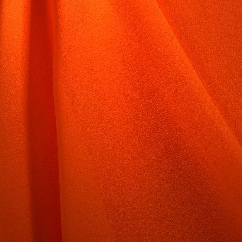 PEBBLE 200 / TANGERINE 987 / 100% Polyester Pebble Georgette