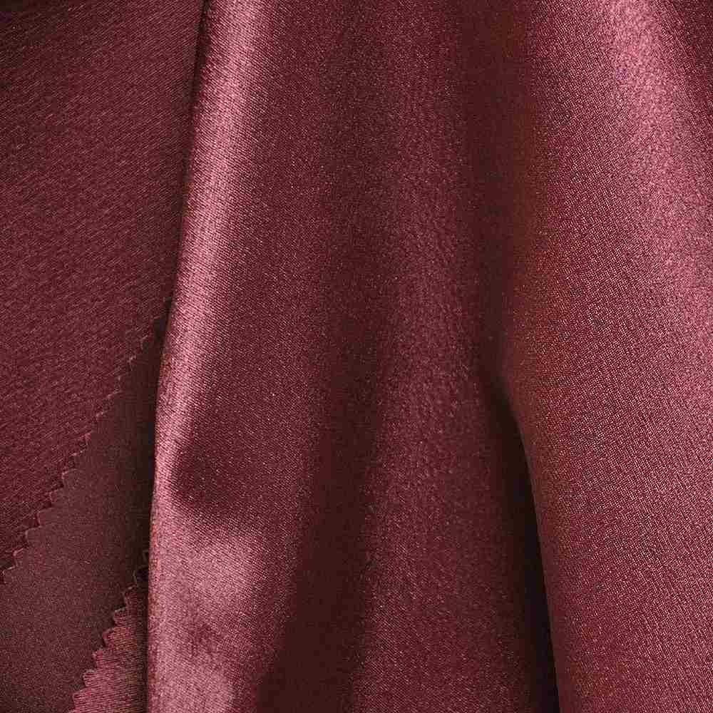 BACK CREPE / BURGUNDY 232 / 100% Polyester Back Crepe Satin