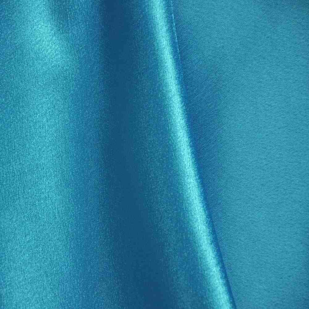 BACK CREPE / AQUA 135 / 100% Polyester Back Crepe Satin