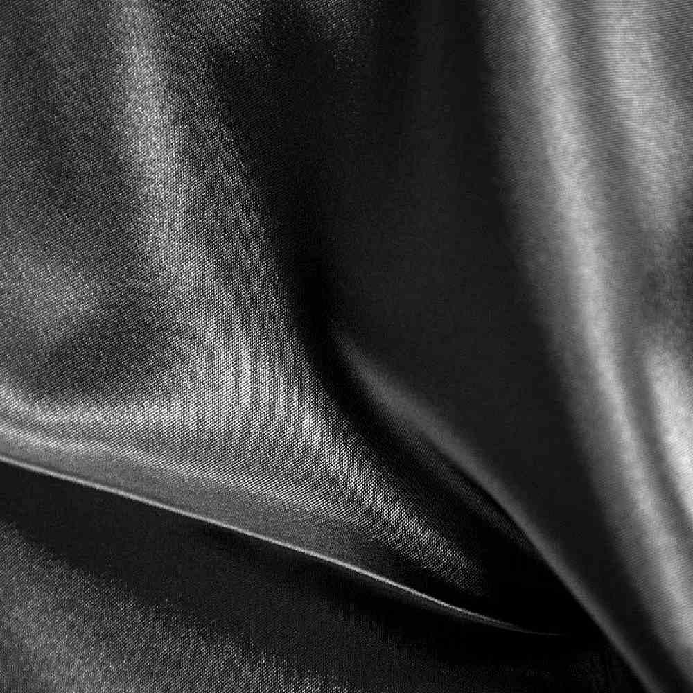 CRM / BLACK 300 / 100% Polyester Charmeuse