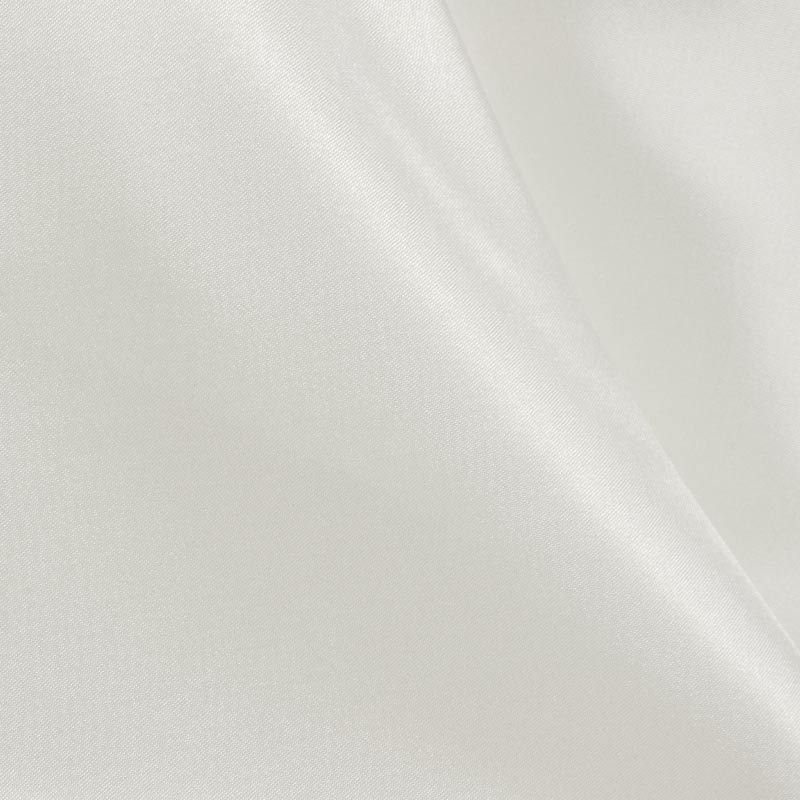 CRM / WHITE 355 / 100% Polyester Charmeuse