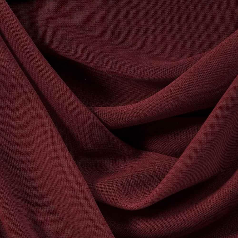 CMJ3000 / BURGUNDY 232 / 100% Polyester Chiffon Matt Jersey