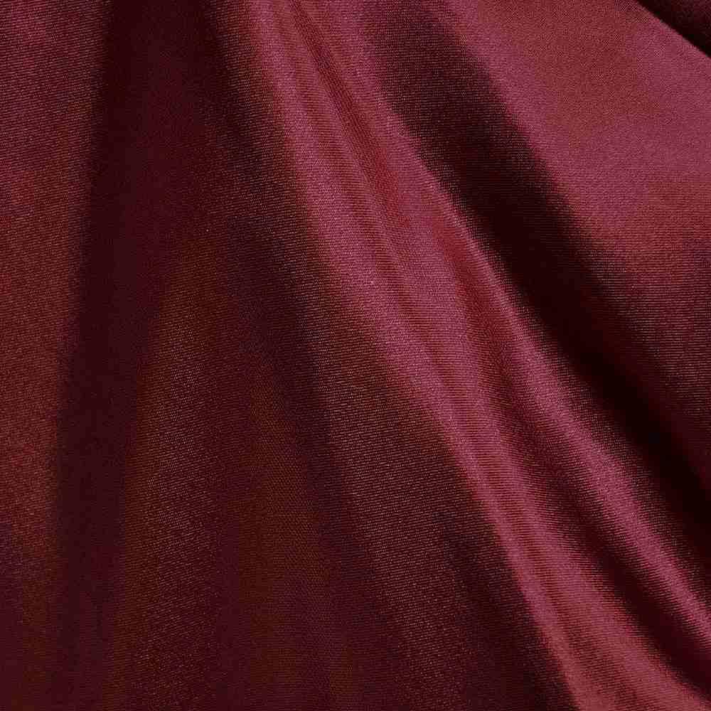 CRM / BURGUNDY 232 / 100% Polyester Charmeuse