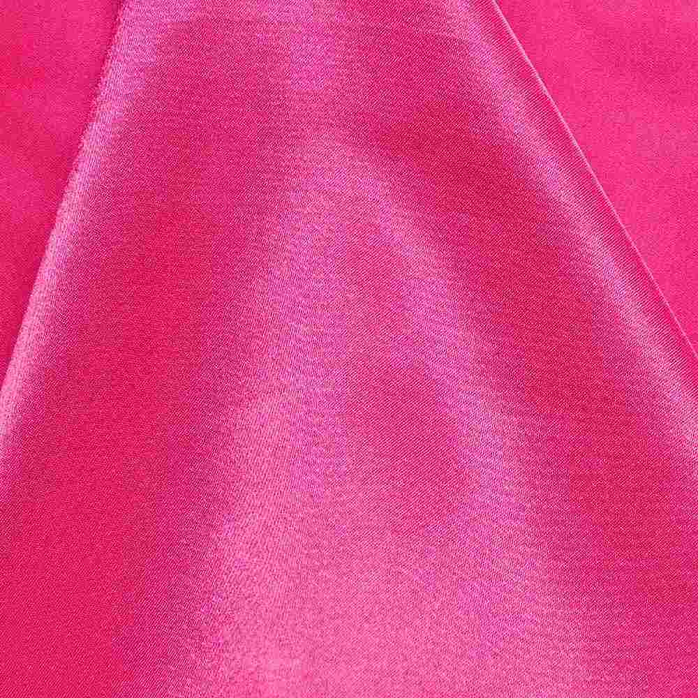 CRM / HOT PINK 395 / 100% Polyester Charmeuse