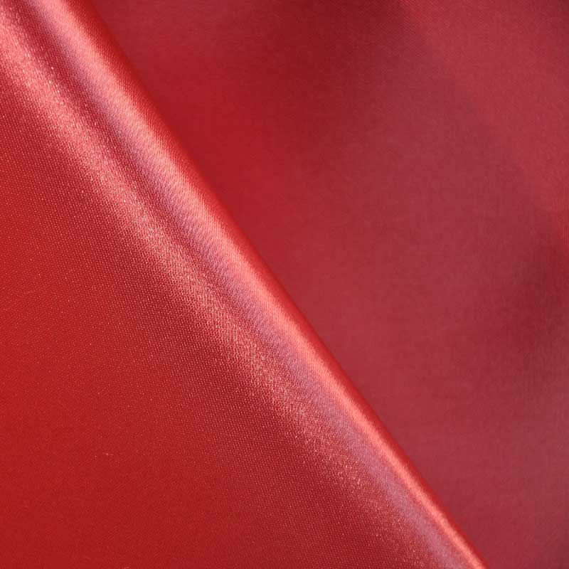 SATIN/POLY 3145 / RED 190 / 100% Polyester Bridal Satin