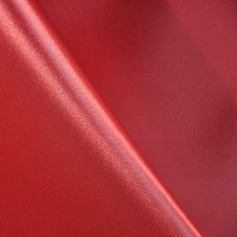 SATIN/POLY 3145 / RED 190 / 100% Polyester Bridal Satin