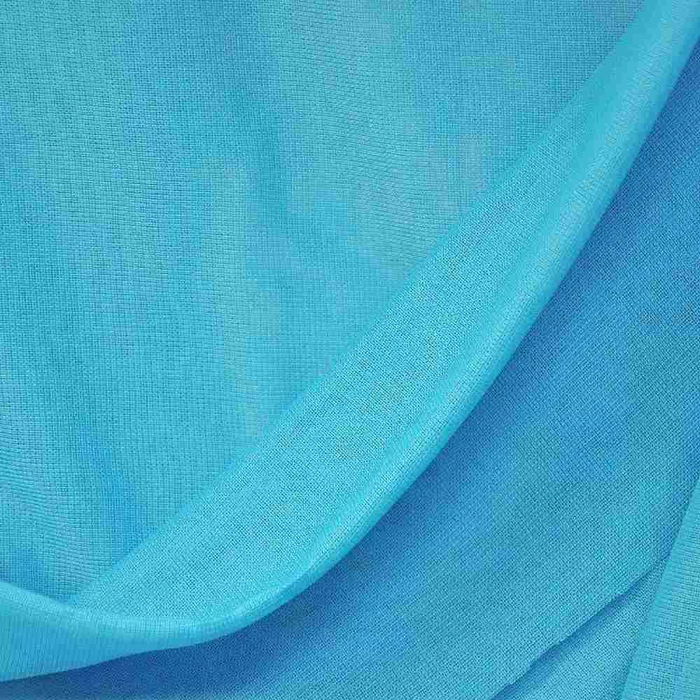 CMJ3000 / TURQUOISE/D 441 / 100% Polyester Chiffon Matt Jersey