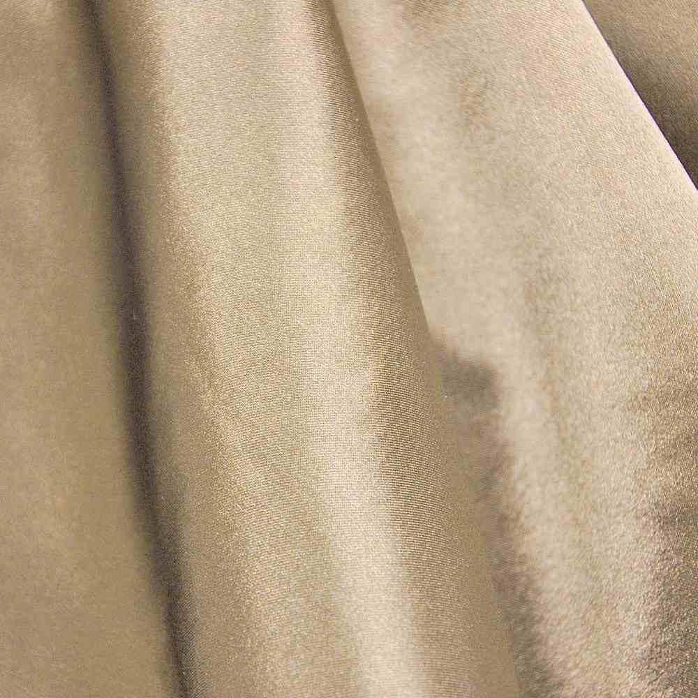 CRM / KHAKI/GOLD 021 / 100% Polyester Charmeuse