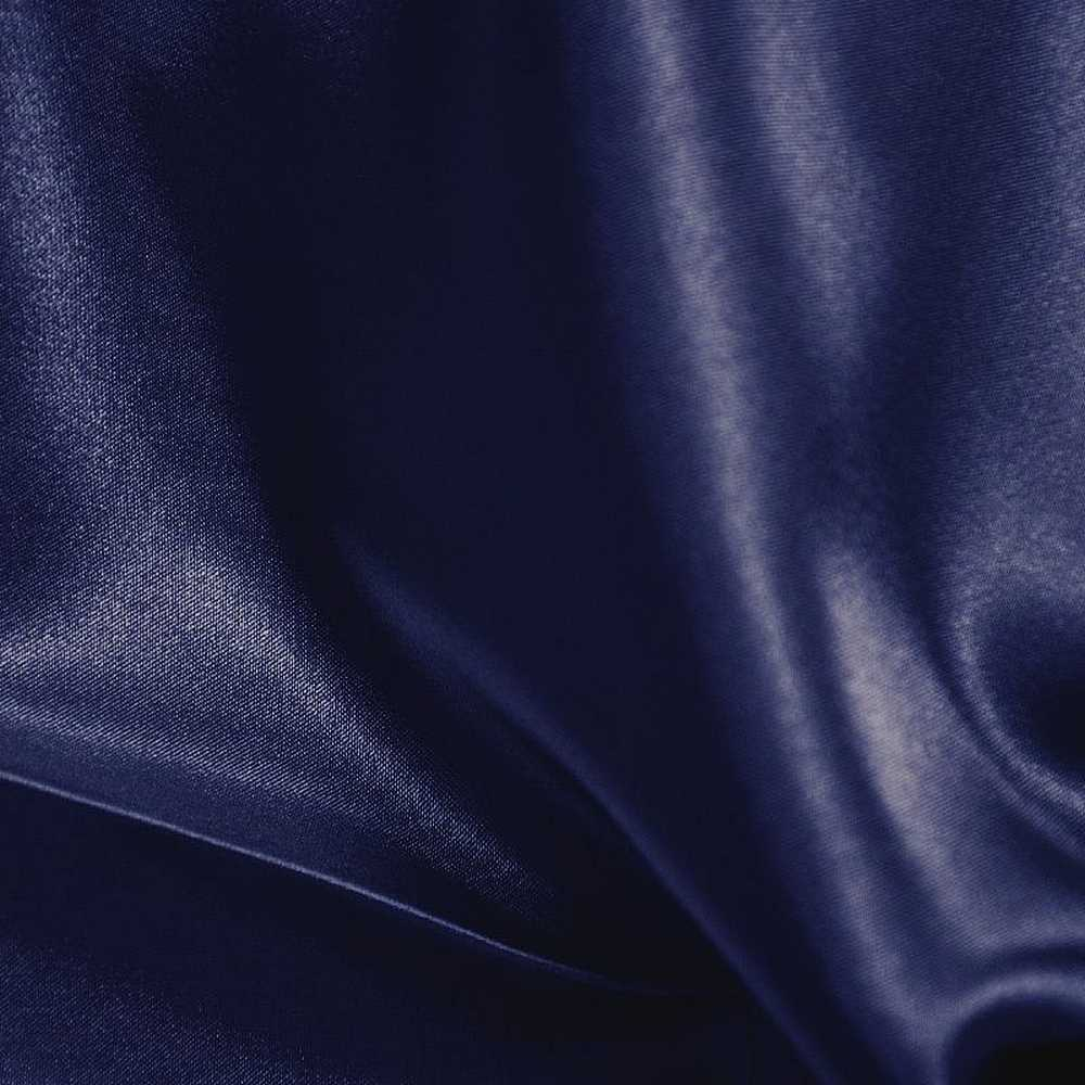 CRM / NAVY 060 / 100% Polyester Charmeuse