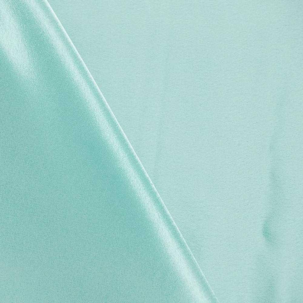 <h2>BACK CREPE</h2> / TURQUOISE 141                 / 100% Polyester Back Crepe Satin