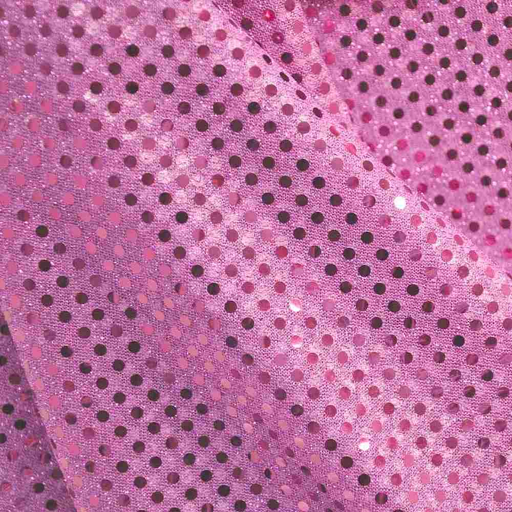 SEQUINS 2000 / PINK / 100% Nylon Knit With 3mm Polyester Trans